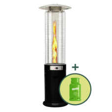 Commercial 15kw Flame Patio Heater Package - Black